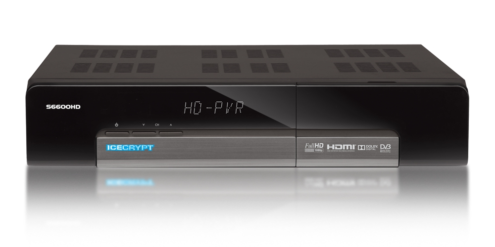 Icecrypt S6600HD PVR Twin SAT Receiver Digitaler HD TV FULL HD WIFI USB