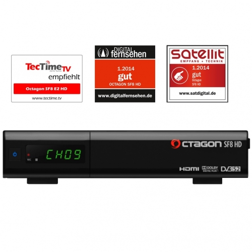 Octagon SF8 E2 HD USB Full HD Linux Sat Receiver Schwarz