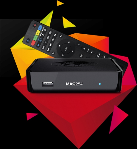 MAG 254w2 intern 600Mbit Wlan BOX Player IPTV Internet TV Box Multimedia USB