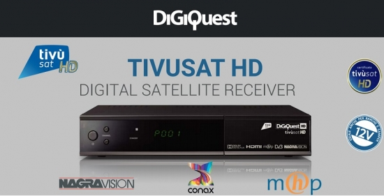 Digitaler Satelliten Decoder Tivusat HD Receiver TV + Karte Digiquest